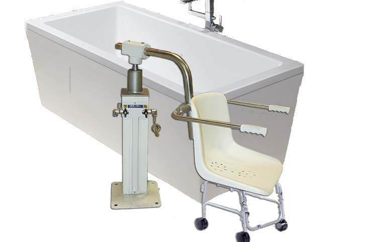 Sollevatore idrodinamico per vasca da bagno con sedia - Sedia da bagno ...
